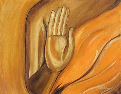 Buddhist Painting - Abhaya Mudra by Sabina Espinet