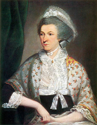 Patriotism Painting - Abigail Adams, First Lady by Science Source
