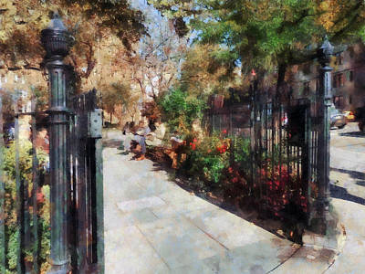 Park Benches Photograph - Abingdon Square Park Greenwich Village by Susan Savad