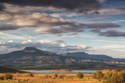 Abiquiu New Mexico Pico Pedernal In The Morning Print by Silvio Ligutti
