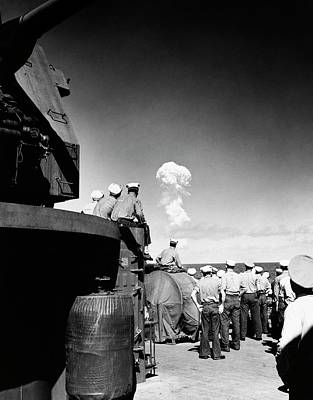 Atom Bomb Photograph - Able Day Atom Bomb Test by Us Navy
