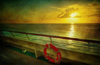 Aboard The Ship Print by Kathy Jennings