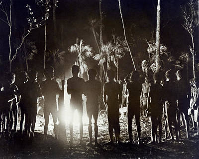 Aborigines At Corroboree Print by Underwood Archives