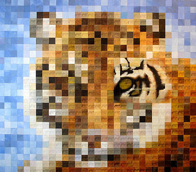 Cat Images Painting - About 400 Sumatran Tigers by Charlie Baird