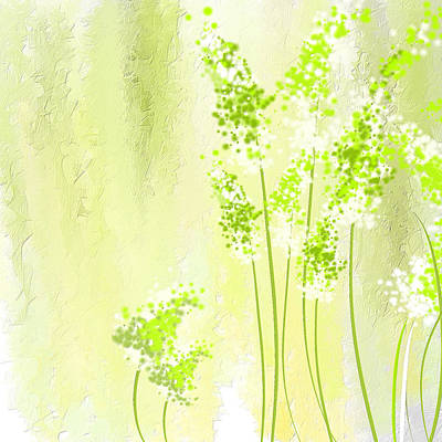 Spinach Painting - About Spring by Lourry Legarde