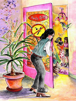 House Plant Drawing - About Women And Girls 08 by Miki De Goodaboom