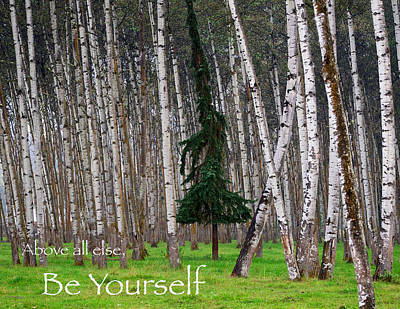 Above All Else Be Yourself Print by Mary Lee Dereske