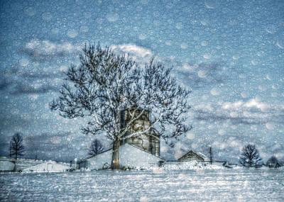 Snowed Trees Mixed Media - Above Barto Winter by Trish Tritz