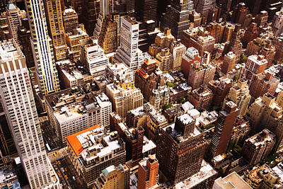 New York City Rooftop Photograph - Above New York City by Vivienne Gucwa