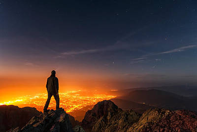 Balkan Mountains Photograph - Above The Night by Evgeni Dinev