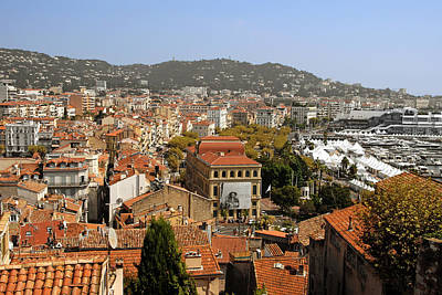 Old House Photograph - Above The Roofs Of Cannes by Christine Till