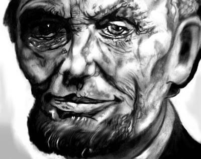 Honest Abe Drawing - Abraham by Herbert Renard