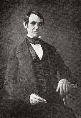 Abraham Lincoln, 1809 – 1865.  16th President Of The United States Of America.  From Abraham Print by Bridgeman Images