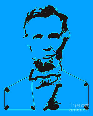 Abraham Lincoln Abstract Print by Pixel Chimp