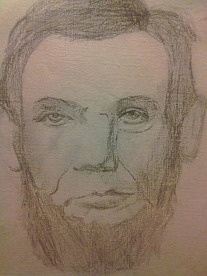 Honest Abe Drawing - Abraham Lincoln Doodle by Lee Farley