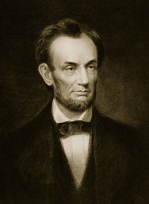 Abraham Lincoln Print by Francis Bicknell Carpenter