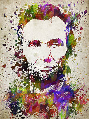 Abraham Lincoln In Color Print by Aged Pixel