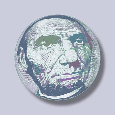 Abraham Lincoln Orb Original by Tony Rubino