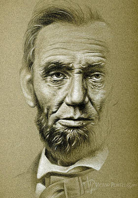 Honest Abe Drawing - Abraham Lincoln Pencil Portrait by Victor Powell