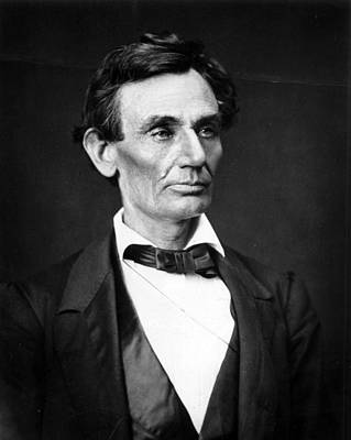 Orator Photograph - Abraham Lincoln Portrait by Anonymous