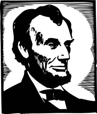 Abraham Lincoln Portrait Print by Florian Rodarte
