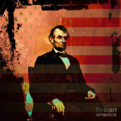 4th July Digital Art - Abraham Lincoln by Wingsdomain Art and Photography