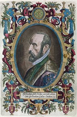 Abraham Ortelius, Dutch Cartographer Print by Middle Temple Library
