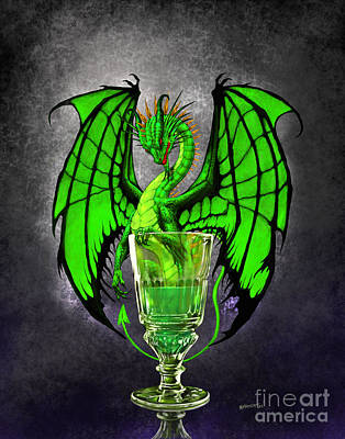 Absinthe Digital Art - Absinthe Dragon by Stanley Morrison