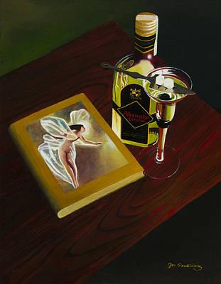 Czech Republic Painting - Absinthe The Green Fairy by Jon Paul Price