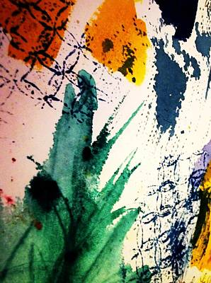 Abstract - Splashes Of Color Print by Ellen Levinson