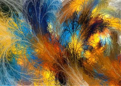 Contemporary Digital Art - Abstract 011014 by David Lane
