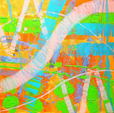 Abstract Expressionism Painting - Abstract 23614  Diptych  II by John  Nolan