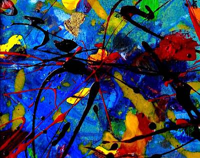 Print Card Mixed Media - Abstract 39 by John  Nolan