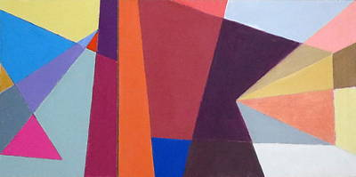 Mixed Media - abstract angles I by Diane Fine