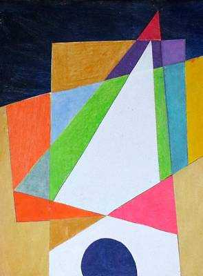 Mixed Media - Abstract Angles Xi by Diane Fine
