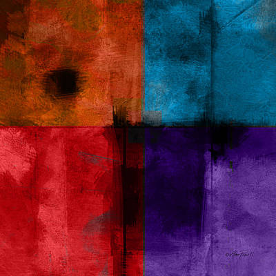abstract - art- Color Block Square Print by Ann Powell