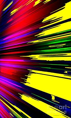 Vertical Digital Art - Full Color Dynamic Abstract Art  by Mario Perez
