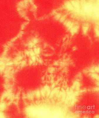 Batik Tapestry - Textile - Abstract Batik In Yellow And Red Shades by Kerstin Ivarsson