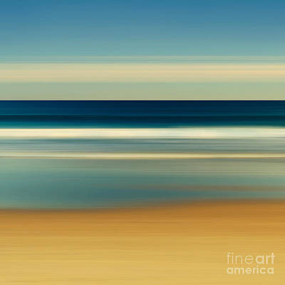 Abstract Beach Day Print by Katherine Gendreau