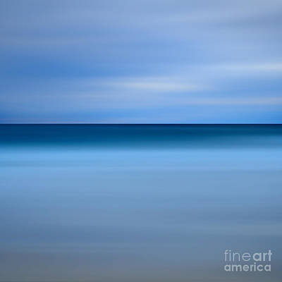 Abstract Blue Beach Print by Katherine Gendreau