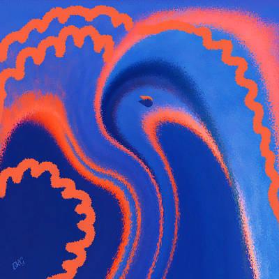 Ben Gertsberg Digital Art - Abstract Blue Bird by Ben and Raisa Gertsberg