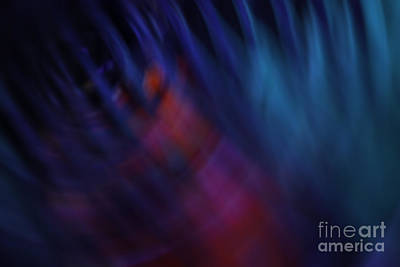 Abstract Blue Red Green Diagonal Blur Print by Marvin Spates