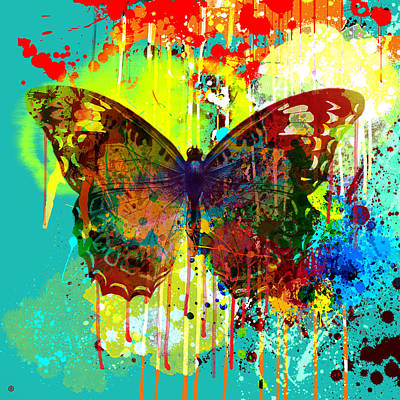 Abstract Butterfly Print by Gary Grayson