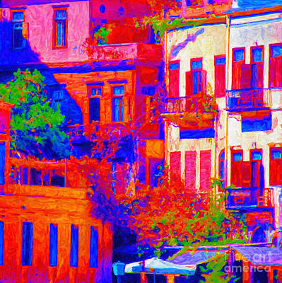 Abstract Digital Painting - Abstract Chania by Antony McAulay