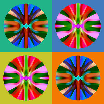 Colorful Abstract Painting - Abstract Circles And Squares 4 by Amy Vangsgard