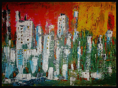 Painting - Abstract City by Zeke Nord