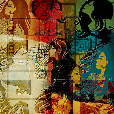 Fashion Abstract Painting - Abstract Collage 01 by Corporate Art Task Force