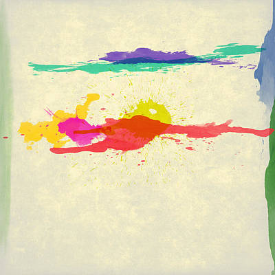Abstract Color Splatter 1 Print by Gary Grayson