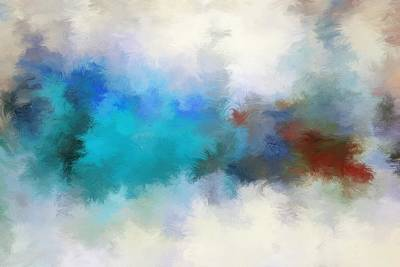 Watercolor Painting - Abstract Colorful Oil Painting by Bijan Studio