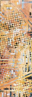 Abstract Decorative Art Original Diamond Checkers Trendy Painting By Madart Studios Original by Megan Duncanson